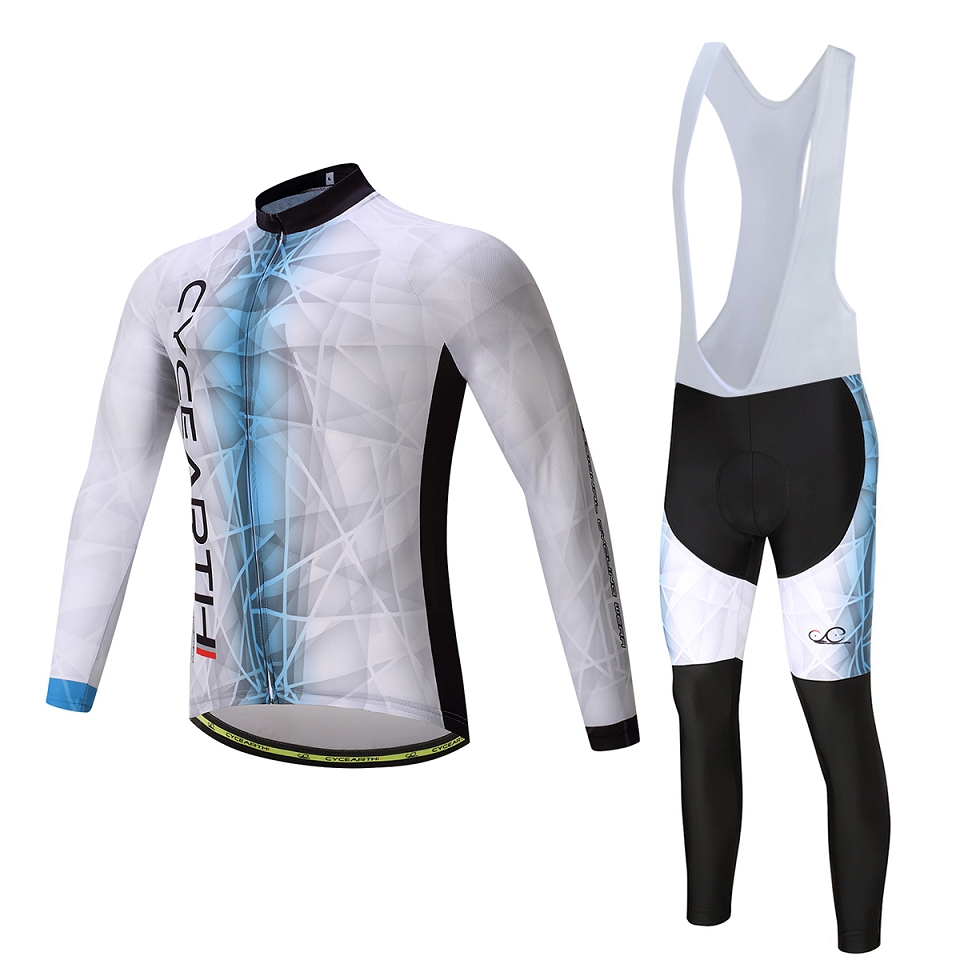 CYCEARTH 2017 Cycling team pro long Bicycle Clothing GEL Cycling Jersey Maillot Ropa Ciclismo Bib Pants Breathable #473 2017pro team lotto soudal 7pcs full set cycling jersey short sleeve quickdry bike clothing mtb ropa ciclismo bicycle maillot gel