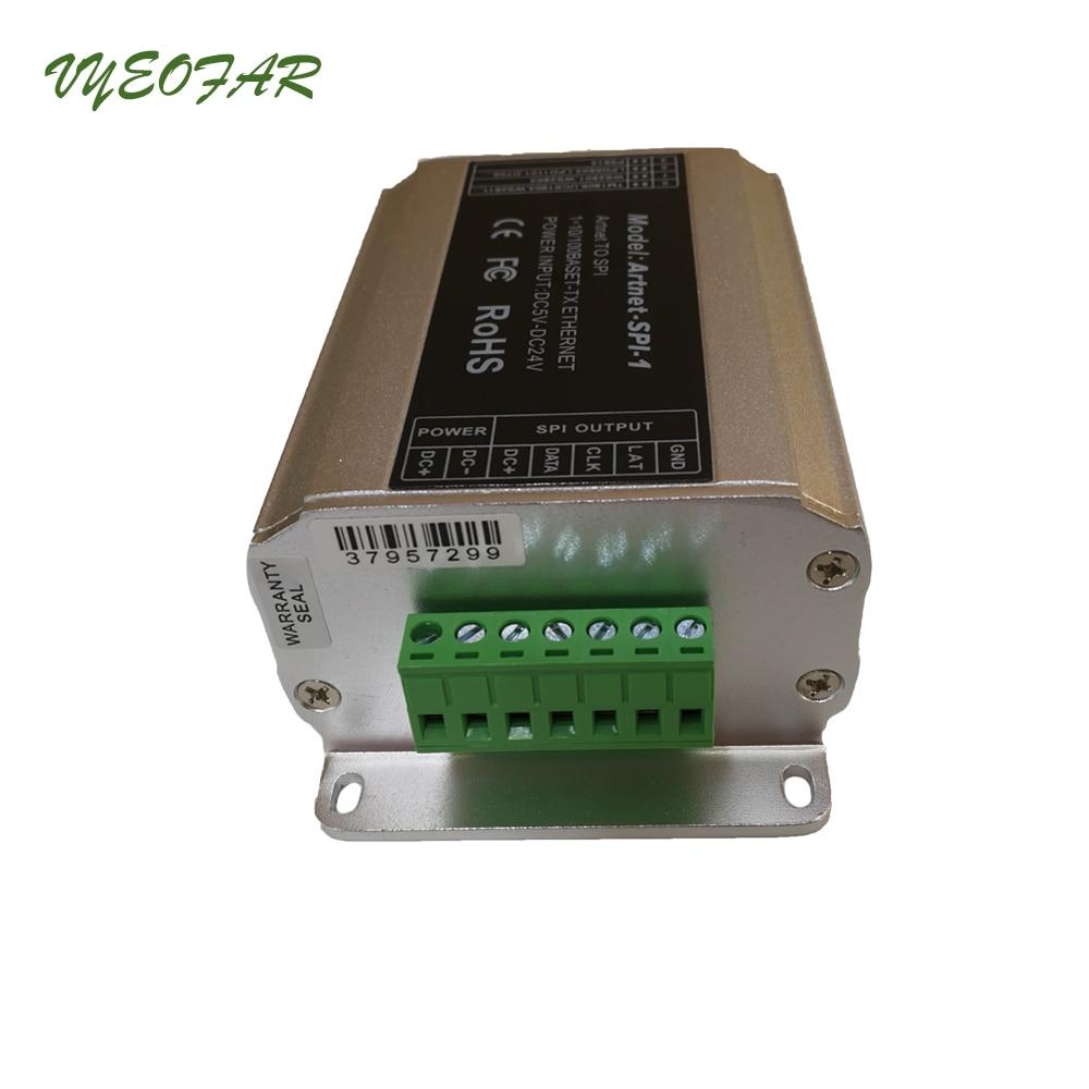 Entrée Artnet-SPI-1 DC5-24V LTECH; sortie de signal numérique SPI (TTL) convertisseur Artnet vers SPI conduisant 2801,6803, 1804,2811, 1903 ci, etc. - 5