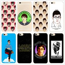Louis Theroux hard clear phone case fashion cover for Samsung s8 s9plus S6 S7Edge S5 for iPhone 7 6s 8plus 5s 5c 4 X XS XR XSMAX customized diy phone case printed hard clear cover case for apple iphone x xs 8 8plus 7 6splus se 5 for samsung s8 s8plus s7 s6