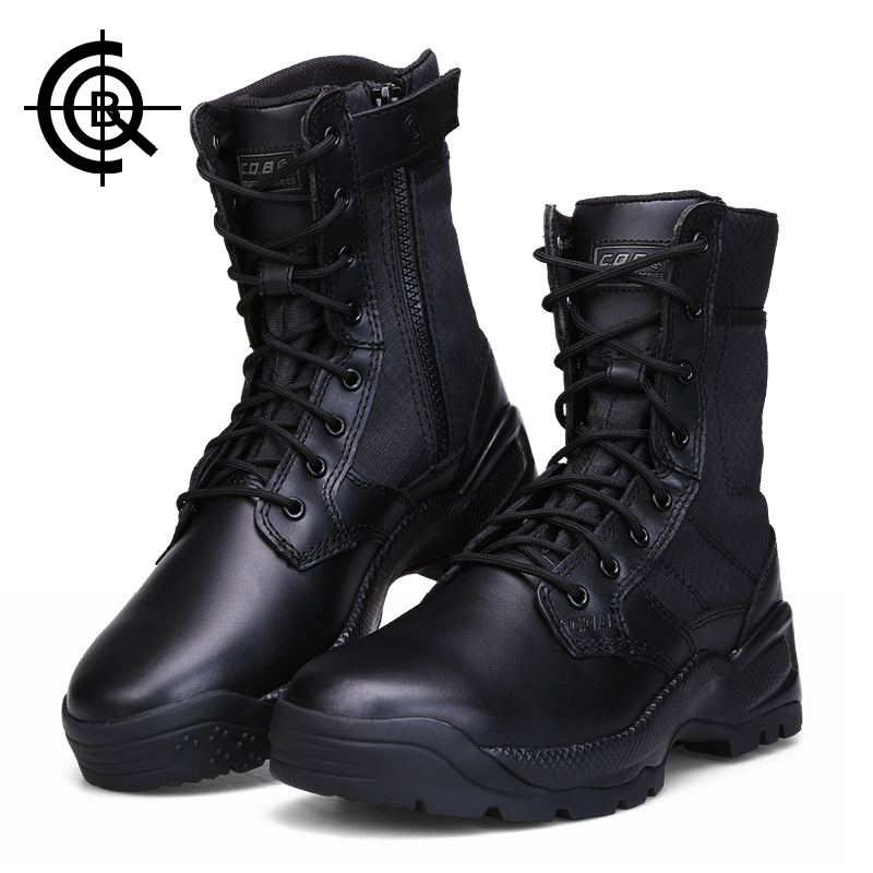 CQB Tactical High Cylinder Hiking Shoes Men Outdoor Climbing Trekking Shoes Water Repellent Military Training Boots CXZ0265 louis fidge the magic flute comprehension and vocabulary workbook level 3