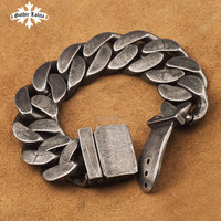 High quality brief vintage punk bracelet for men stainless steel one direction Belt buckle fashion Jewelry