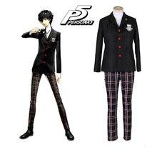 купить Persona 5 Joker Akira Kurusu Cosplay Costume Men Women Top Pants Set School Girls Uniforms For Halloween Party по цене 3328.2 рублей