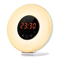 Light Alarm Clock With Sunrise Simulation LED Digital Clock Wake up Light [Luxury Edition] with FM Radio Touch Control Night wake up with a stranger bonus edition