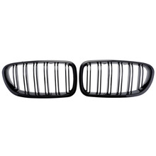 One Pair Car Style Gloss Black Front Kidney Grills Grille For BMW F10 F18 F02 F11 M5 2010 2011 2012 2013 2014 Wholesale D10 цена