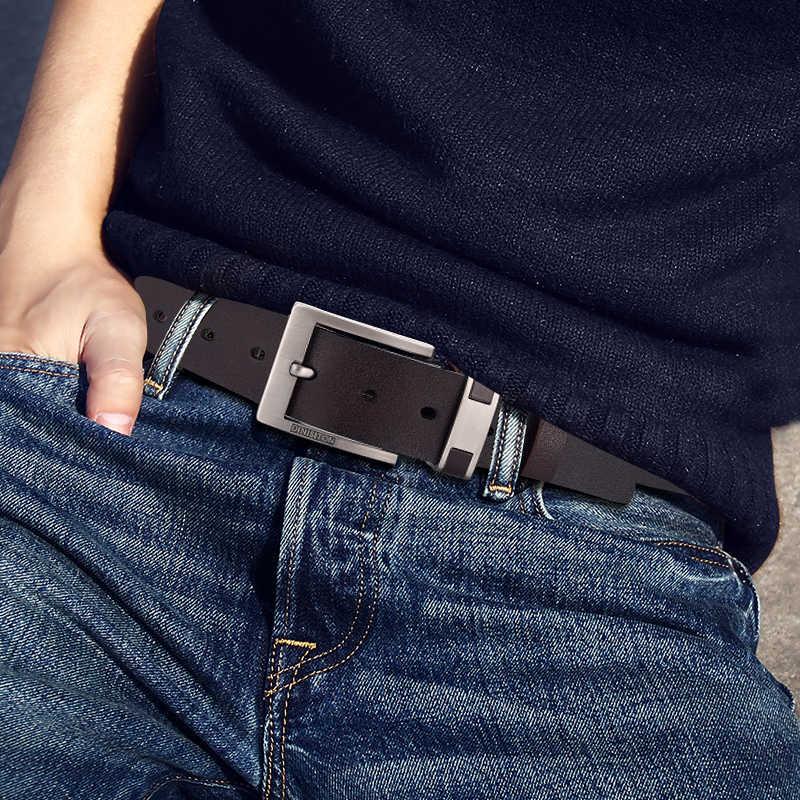 Dinisiton 牛本革ベルト男性用高級メンズベルト革ベルト合金バックルカジュアル男性ヴィンテージストラップ ceinture オム