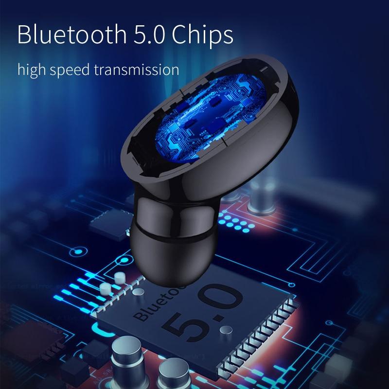 Image 2 - OUSU Invisible Bluetooth 5.0 Earphone TWS mini Wireless Earphones Sport Earbuds Handsfree Earpiece ecouteur sans fil bluetooth-in Bluetooth Earphones & Headphones from Consumer Electronics