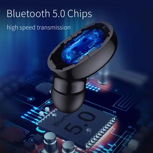 Image 2 - OUSU Unsichtbare Bluetooth 5,0 Kopfhörer TWS mini Drahtlose Kopfhörer Sport Earbuds Freisprechen Hörer écouteur sans fil bluetooth