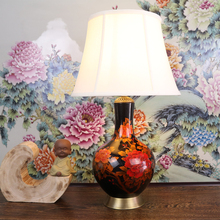 Buy porcelain lamp shades and get free shipping on aliexpress jingyile peony art chinese porcelain ceramic table lamp bedroom living room shades aloadofball Choice Image