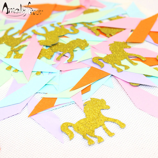 Unicorn Party Decorations Pastel Confetti Mix Decor Birthday Festive Supplies