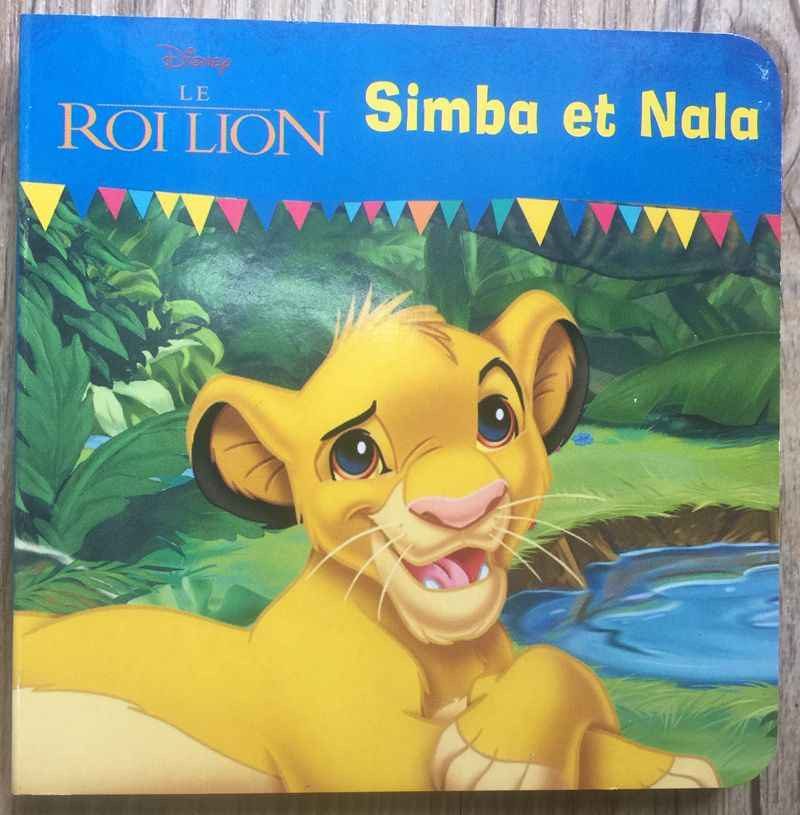 Parent child kids baby early education picture story book French learning book Simba et Nala pocket mini book Age 0 - 6