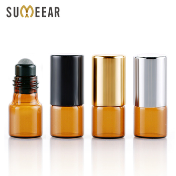 100 Pieces/Lot 2ML Roll On Essential Oil Bottles Amber Glass Bottle Refillable Perfume Bottle Travel Bottle Cosmetic Container 30pcs 2ml mini essential oil bottle jar orifice reducer
