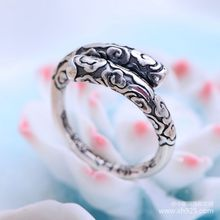 цена на 990 Sterling Silver Vintage silver jewelry jewelry lovers jingubang smooth opening ring free shipping