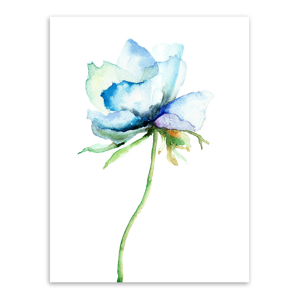 Watercolor Minimalist Alpine Orchid A4 Vintage Poster Prints Simple Flowers Picture Canvas Paintings Gifts Home Decor Wall Art In Painting Calligraphy