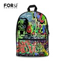 2016 Горячей продажи детей школьные сумки для подростков мальчиков и девочек женщин 17 дюймов высокое качество большой граффити ранцы тигра холст сумки