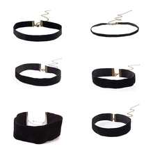 6/16/20/26/30/50 mm Wide Black Velvet Ribbon Choker Necklace Gothic Necklace Jewelry For Women Punk Jewellery Chockers #86595