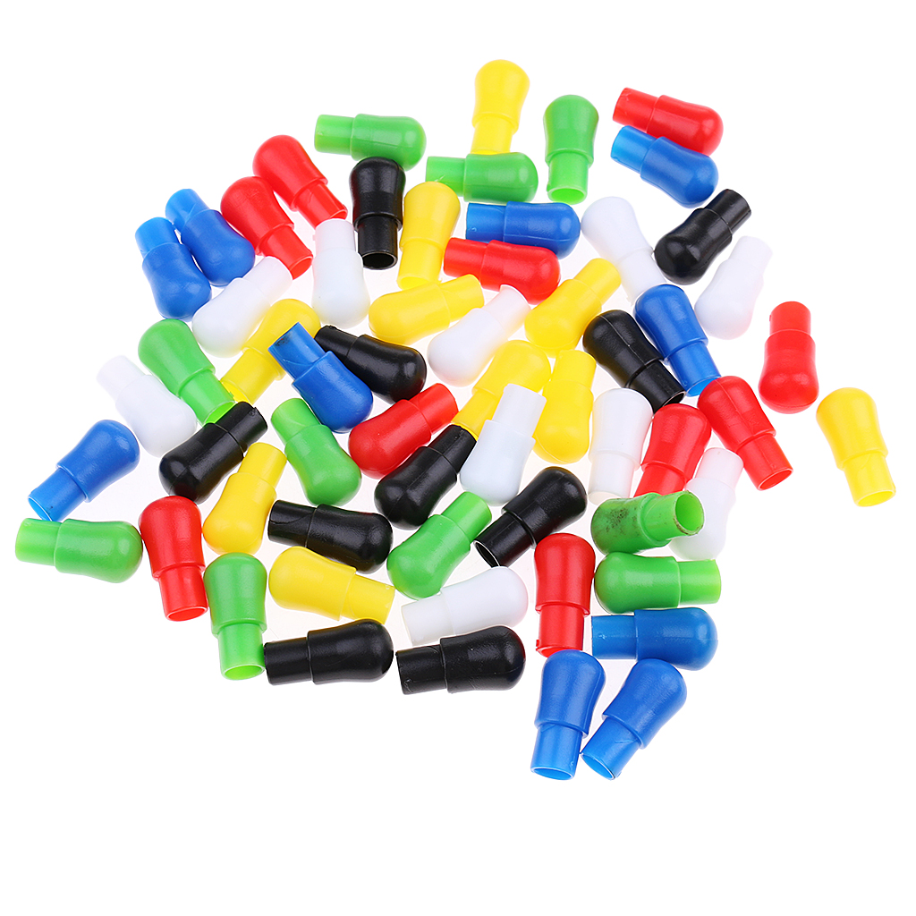 60 Pieces 23mm Mixed Color Replacement Traditional Wooden Chinese Checkers Pegs For Adult Kids Chinese Checkers Toys