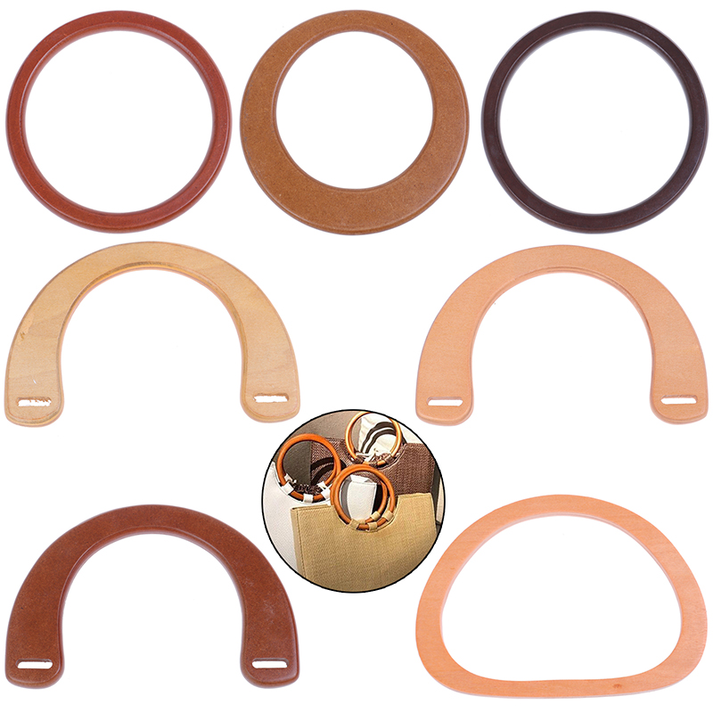 7 Styles 1PC Hot Sale Wooden Resin Handle Replacement DIY Handbag Purse Frame Bag Accessories Tool