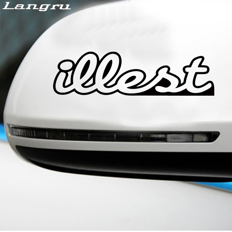 Langru Hot Sale Illest Decal Funny Car Vinyl Sticker Euro Car Stying