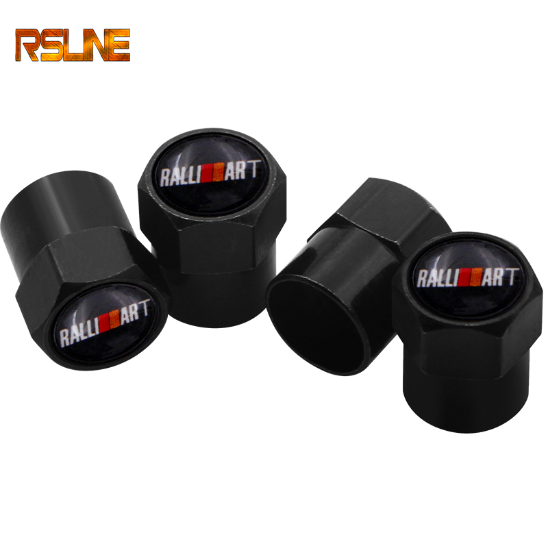 4pcs Car Styling Auto Caps Case For Mitsubishi RalliArt Lancer Ralli Art 10 Asx Car Emblems Badge Accessories Car-Styling