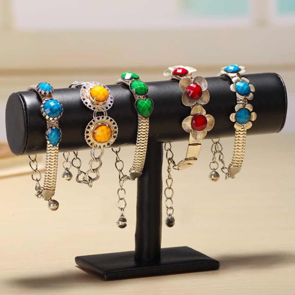 23cm/9.1inch Bracelet Bangle Necklace Chain Watch T-Bar Rack Black Velvet Jewelry Display Stand Holder Rack