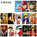 10 pcs/lot ONE PIECE Card Sticker Anime Monkey D Luffy Car Bike Laptop Guitar DIY Sticker Kids Birthday Party Gift Classic Toys