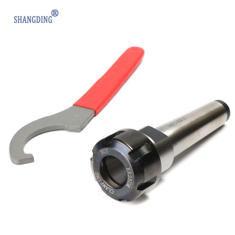 MT3 ER25 M12 Collet Chuck Holder Fixed CNC Milling Turning Tools + 1Pc Spanner Hot Sale