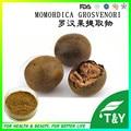 VENDA QUENTE Melhor qualidade Luo Han Guo Extrato, Extrato de Siraitia Grosvenorii, Monge Fruta Edulcorante 10:1 1000g