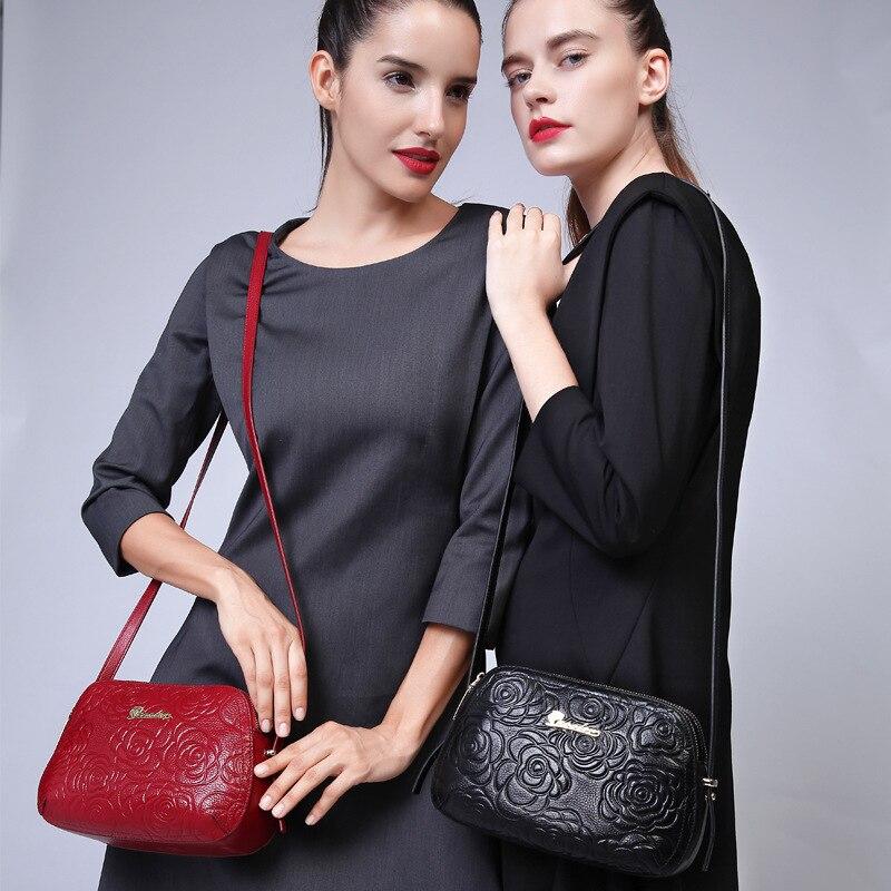 Lovakia Fashion Genuine font b Leather b font Bag 2017 New Women Messenger Bags Small Luxury