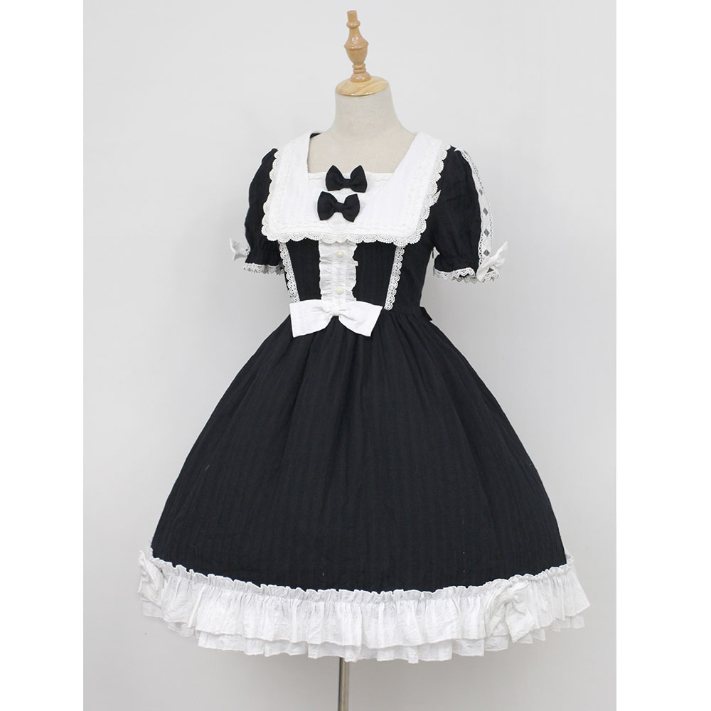The Wonderful Wizard of Oz ~ Square Collar Short Sleeve Classic OP Lolita Dress by Soufflesong the wonderful wizard of oz
