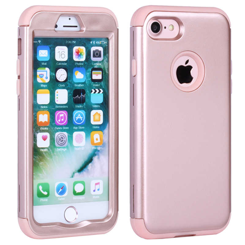 the latest d36b4 54a61 For Apple iPhone 7 Case 7 Plus Silicone & Plastic Hard Cover iPhone 7 Plus  Phone Case With Rubber TPU Coque For iPhone7 Plus