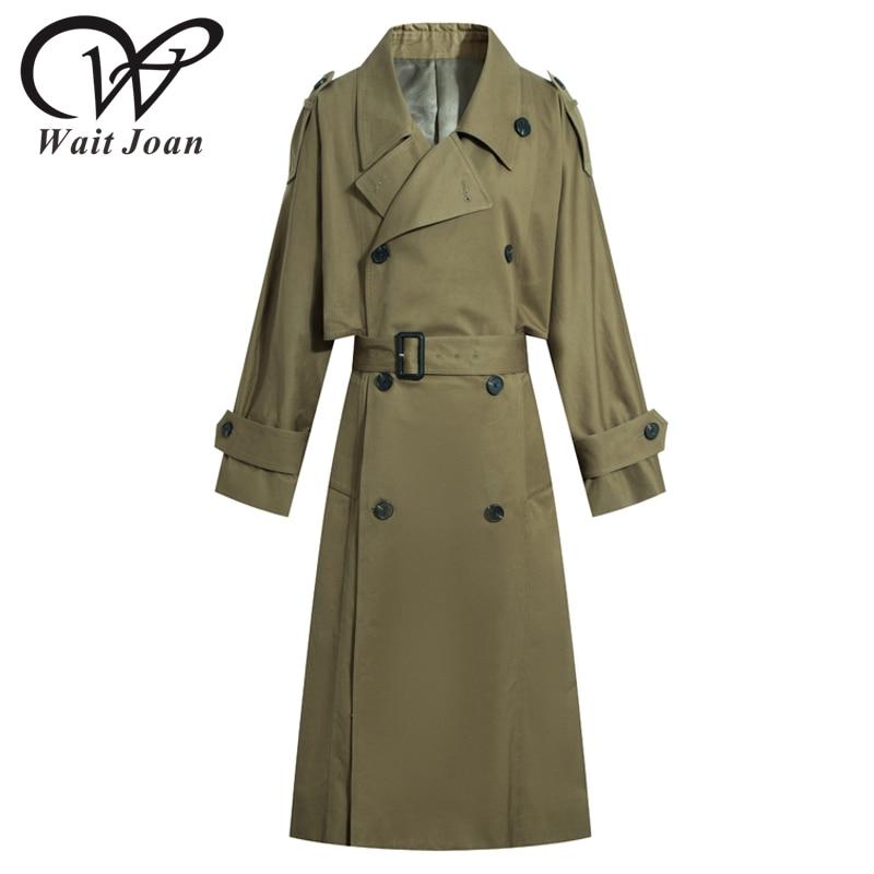 Plus Size Autumn Winter Trench Coat For Women Clothes Fashion Female Long Coat Women Elegant Streetwear Ladies Raincoat WJ188