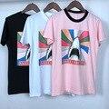 Fashion Brand Hip-hop Bape Shark Men T shirt Rainbow Stripe Kwaii Short Sleeve T-Shirt Men Streetwear Cotton FUXK FAKE Tees Z30