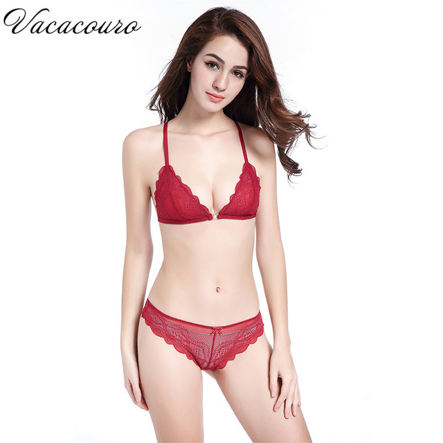 03135718091 France Brand Sexy Thin Lace Bra Set Underwear Women Front Closure Bras and Panties  Y Shape Lingerie Set Bra Brief Sets BS178