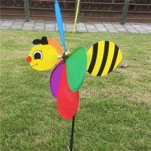Милый 3D большое животное пчела ветряная мельница ветряная вертушка вихревой дворовый садовый декор