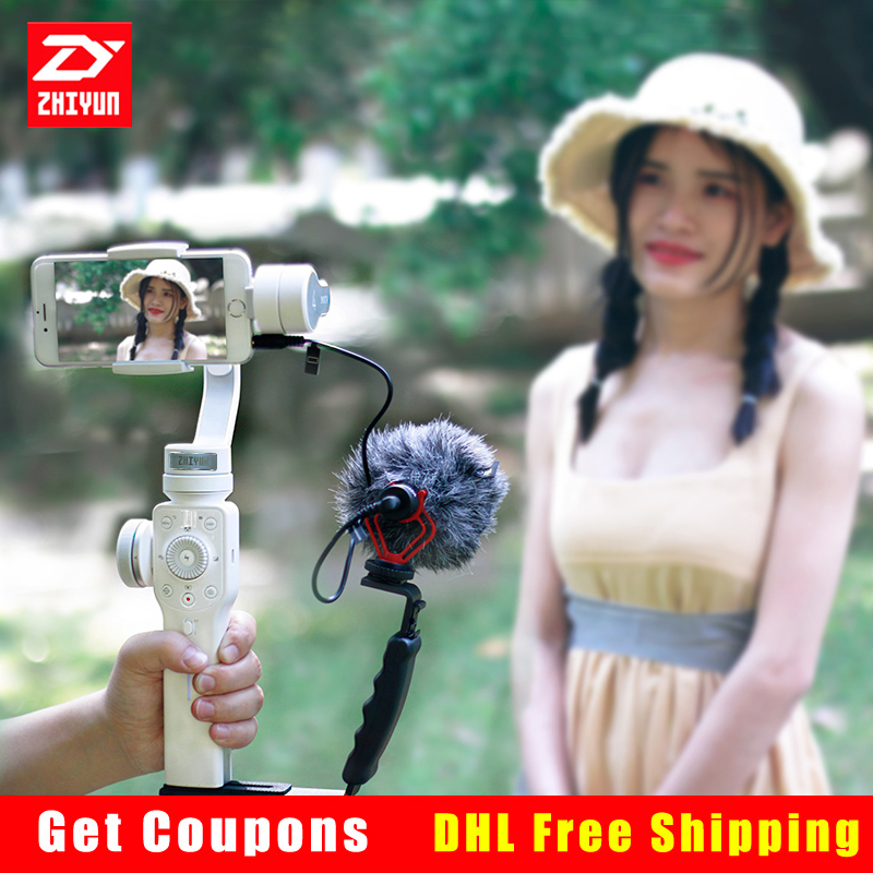Zhiyun Smooth 4 Handheld 3-Axis Brushless Gimbal Stabilizer for iPhone X 6/7/8 Smartphone Action camera PK Smooth Q feiyutech spg gimbal 3 axis handheld gimbal stabilizer for iphone 7 6 plus smartphone gopro action camera vs zhiyun smooth q