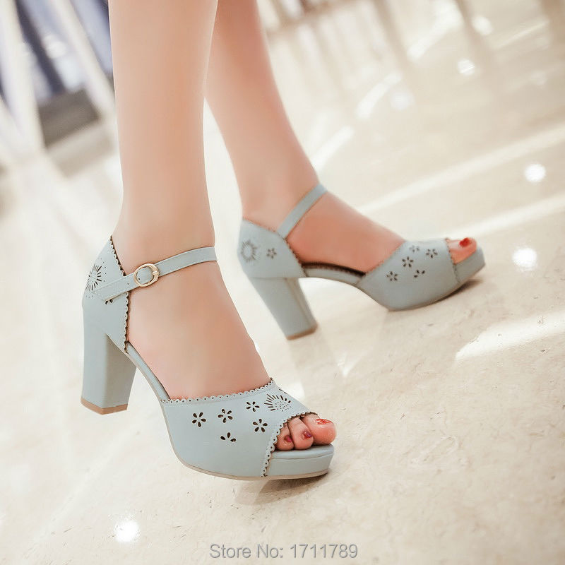 new fashion summer women shoes fisherman platform high heels sandals buckle ankle strap thick heels small big size 31-43 0057 big size 32 43 fashion party shoes woman sexy high heels platform summer pumps ankle strap sandals women shoes
