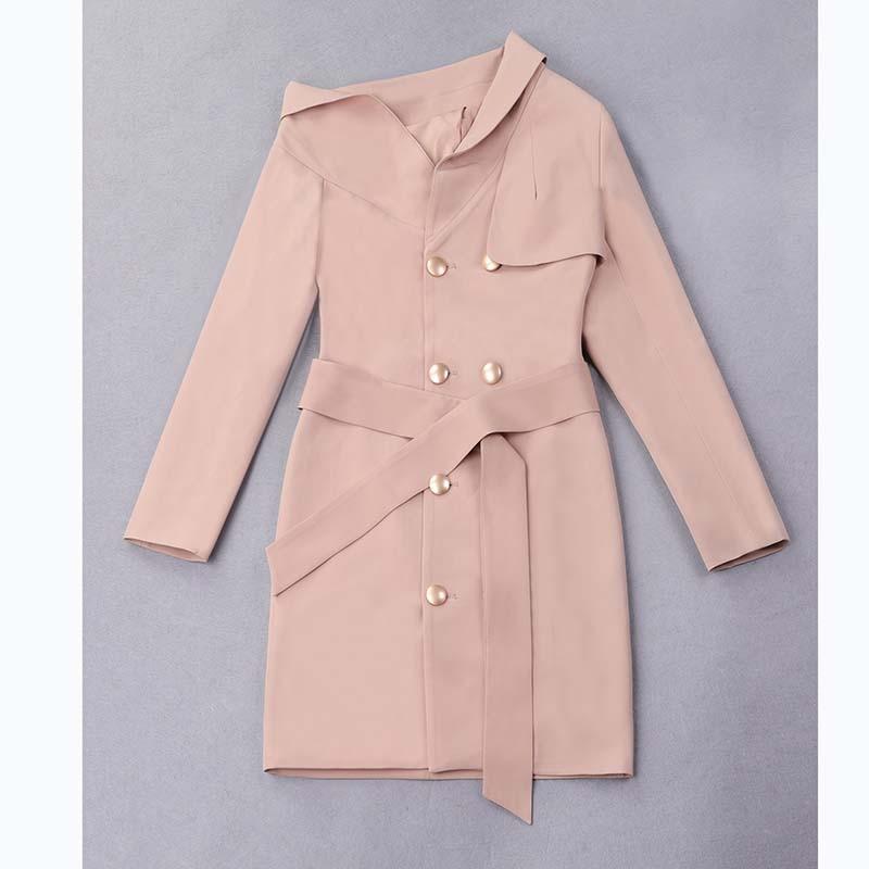 Empire apricot Robe Élégante Volants Femmes 2018 Bh5384 Pink Bourgogne Une Sexy Noir Erdaoben Partie Club Midi Épaule À cARSjq3L45