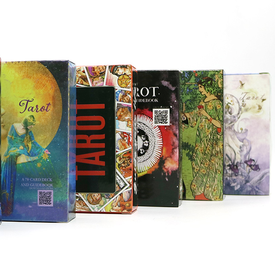 9 Style Tarot Cards English Version Guide Divination Fortune Tarot Deck For Home Party Cards Game, Board Game