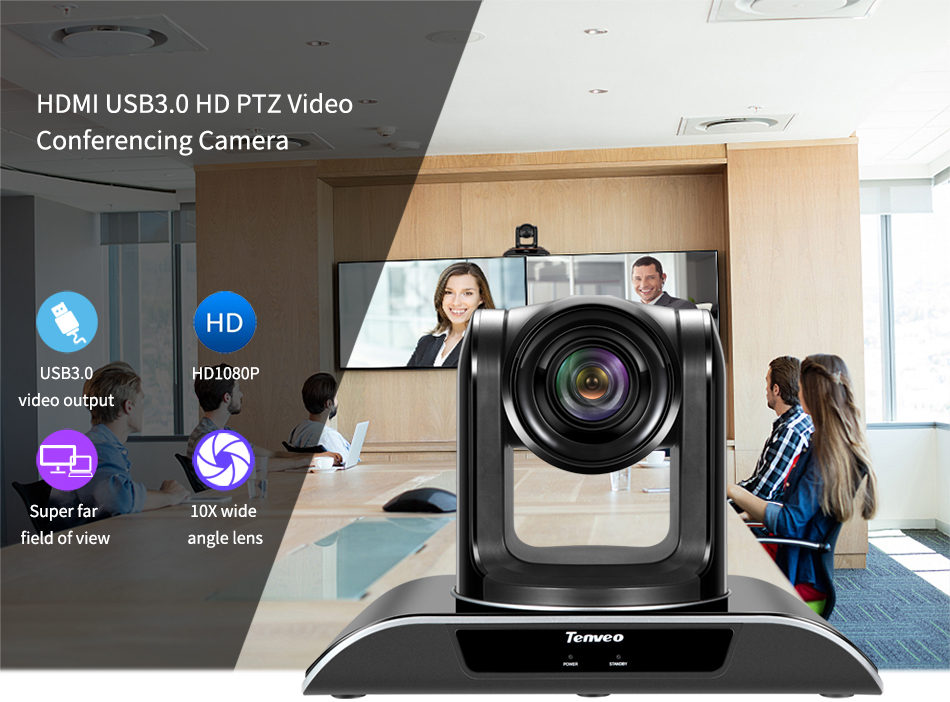 óptico 2.38mega pixel vídeo conferência câmera para projetor
