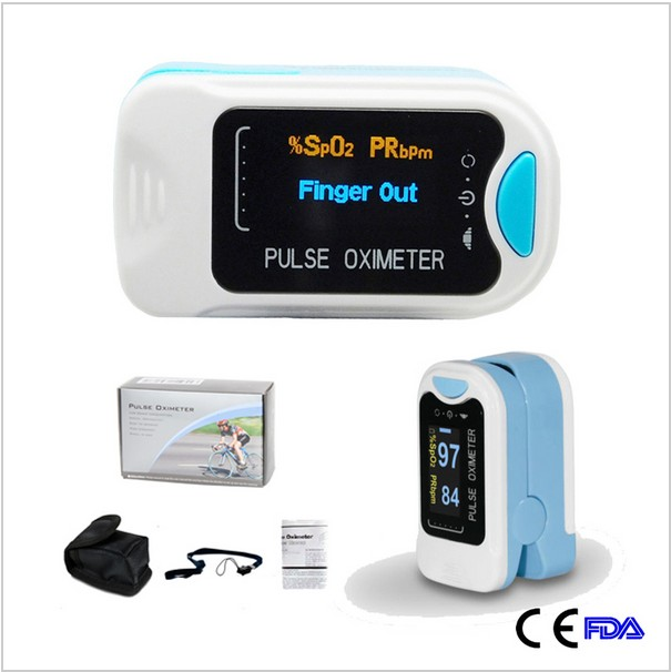 Free Shipping CE&FDA Approved CMS50NA Fingertip Pulse Oximeter Blood Oxygen SPO2 PR Monitor OLED Display Free Case&Rope abpm50 ce fda approved 24 hours patient monitor ambulatory automatic blood pressure nibp holter with usb cable