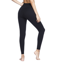 Women Solid High Waist Push Up Tummy Control Seamless Sport Tight Leggings for Fitness Gym Running
