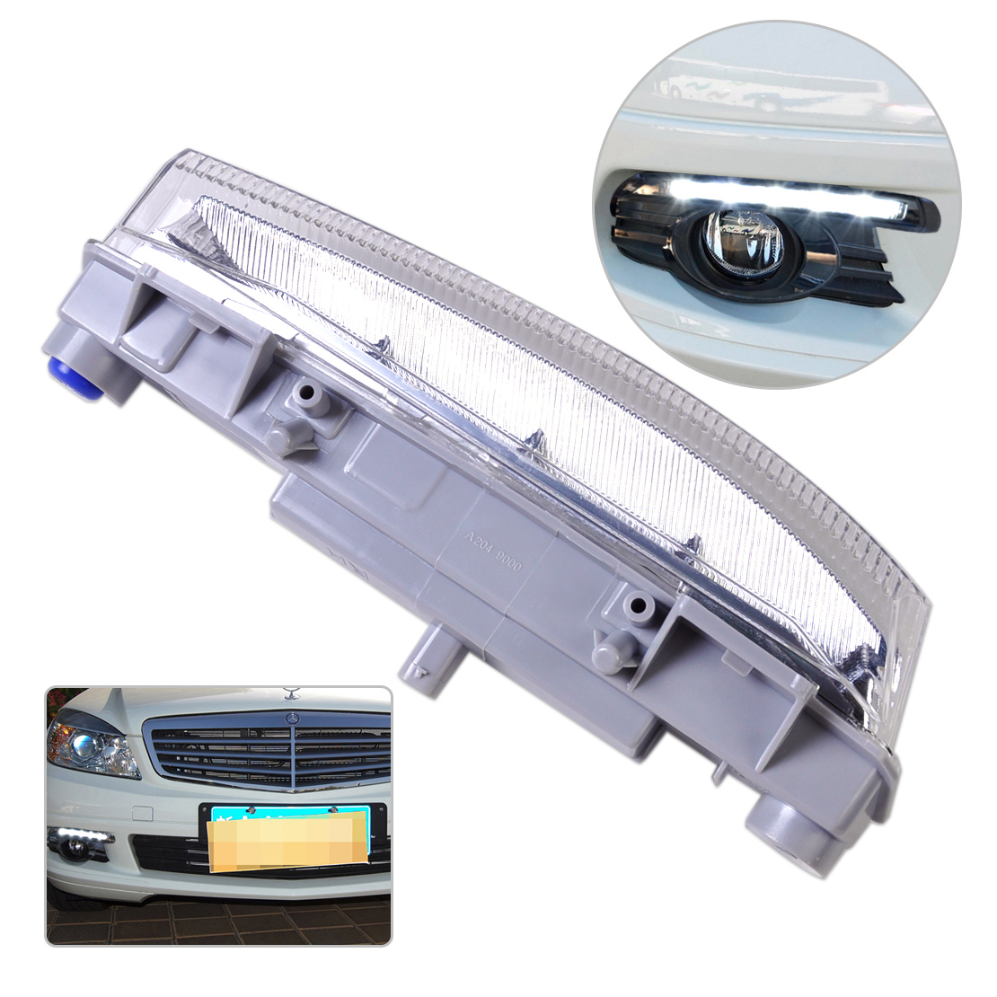 ФОТО 1Pc DRL Fog Light Lamp Right 2049069000 204 906 90 00 Fit for Mercedes Benz W204 W212 S204 R172 High Quality