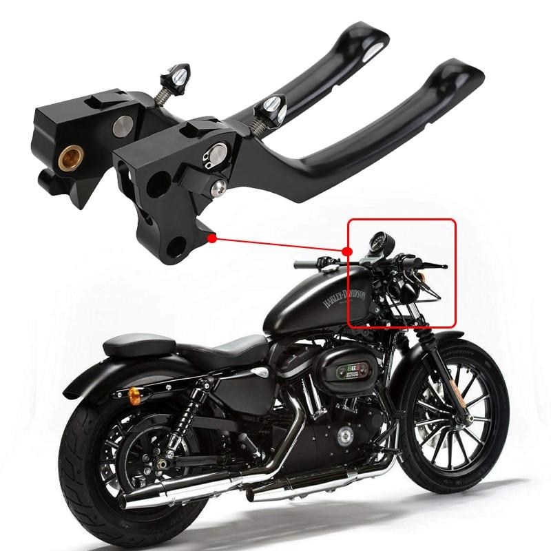 CNC Contrast Cut Regulator Clutch & Brake Lever Set For Harley Davidson Sportster 883 1200XL XR 2004 2005 2006 2007 2008 2009 cnc rear wheel axle cover cap kit for 05 14 2005 2006 2007 2008 2009 2010 2011 2012 2013 2014 harley sportster 883 1200