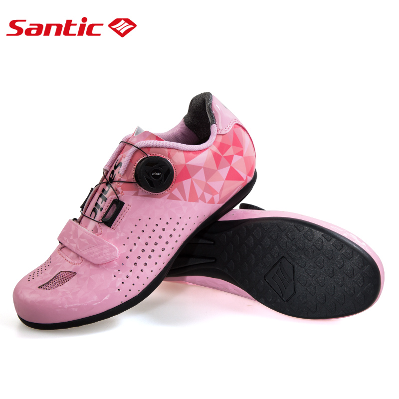 Santic New Road Cycling Shoes Women All Terrain Non-locking Breathable Mountain Bike Shoe Leisure Road Bicycle Flat Shoes 36-39Santic New Road Cycling Shoes Women All Terrain Non-locking Breathable Mountain Bike Shoe Leisure Road Bicycle Flat Shoes 36-39