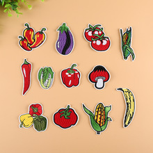 Food Vegetable Corn Pepper Patchwork Patch Embroidered Patches For Clothing Iron On For Close Shoes Bags Badges Embroidery food vegetable patch embroidered patches for clothing iron on for close shoes bags badges embroidery