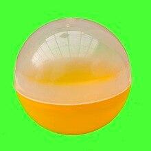 """10 шт 100 мм Большая пластиковая пустая Капсула 10 СМ Круглая капсула для игрушек подарок """" полупрозрачный пластиковый контейнер с полуцветными пластиковыми шариками"""