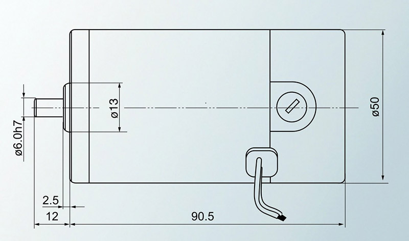 Eixo redondo do motor 12 v 24