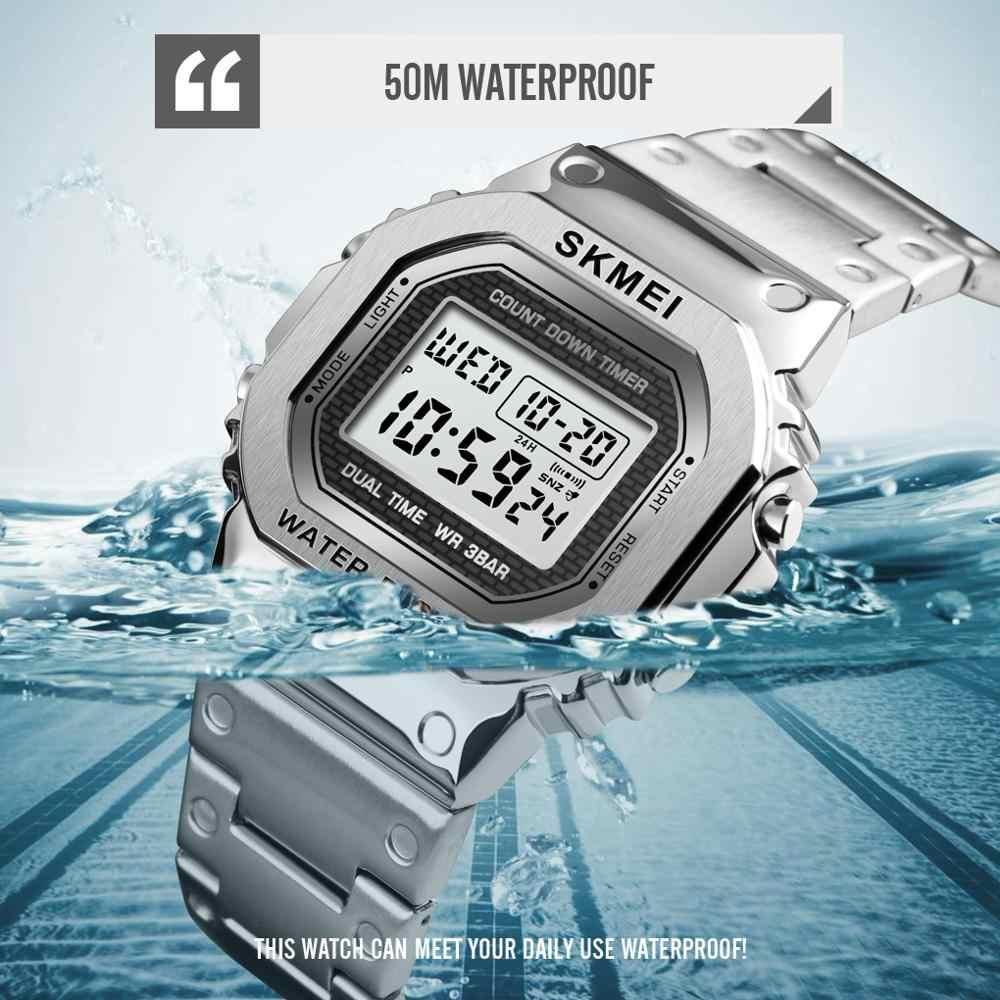SKMEI moda dijital saat erkekler kadınlar çift kol saatleri 2 kez Chrono saatler su geçirmez horloges vrouwen mannen 1456 1433 Set