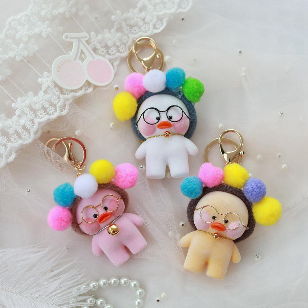 Kawaii-LaLafanfan-Cafe-Duck-Pendant-Keychain-Cartoon-Cute-Duck-Car-Decor-Animal-Dolls-Girl-Toys-Birthday (2)
