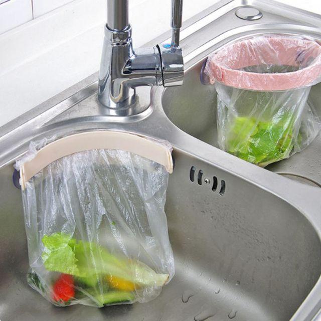 Cabinet Trash Bag Rack with Lid Closet Hanging Organizer Garbage Bag Holder Bathroom Kitchen Accessories
